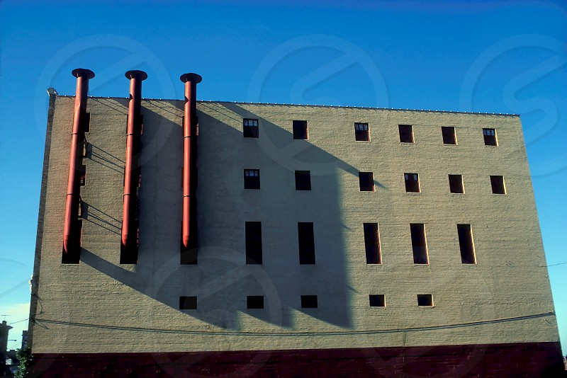 Vents and windows architecture industrial biulding photo