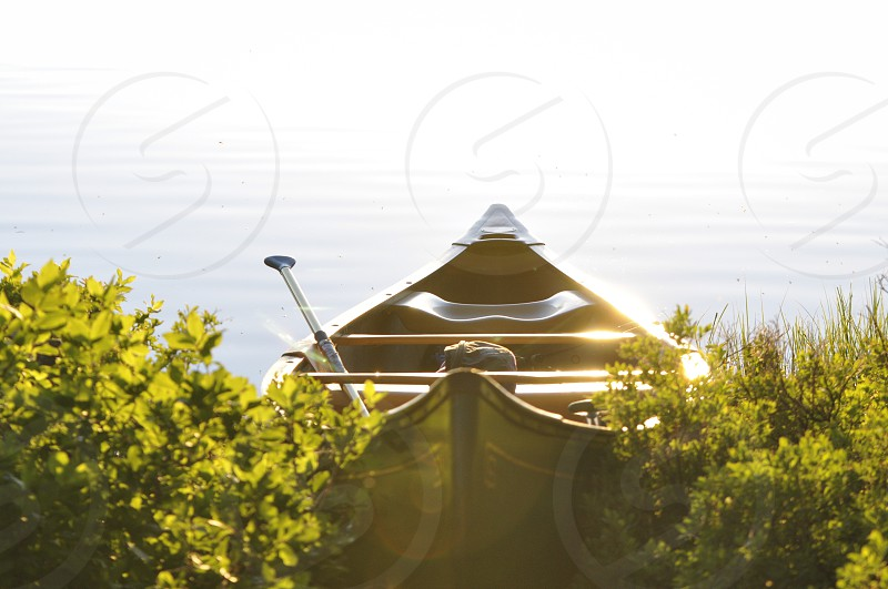 My canoe at sunset photo