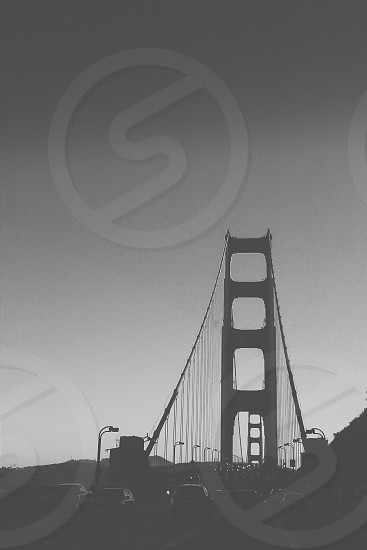 A different view of The Golden Gate Bridge San Francisco CA.  photo