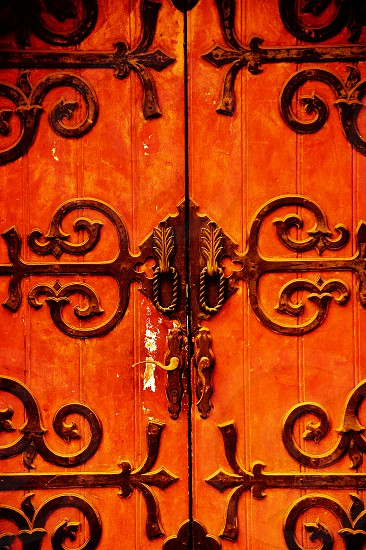 shanghai old german style house's  door at dusk photo