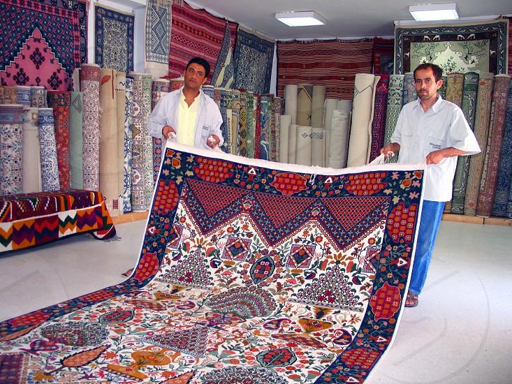 souvenirs from Tunisia Djerba carpets photo