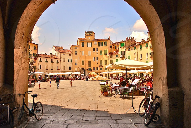 Piazza dell'Anfiteatro Lucca. Italy. photo