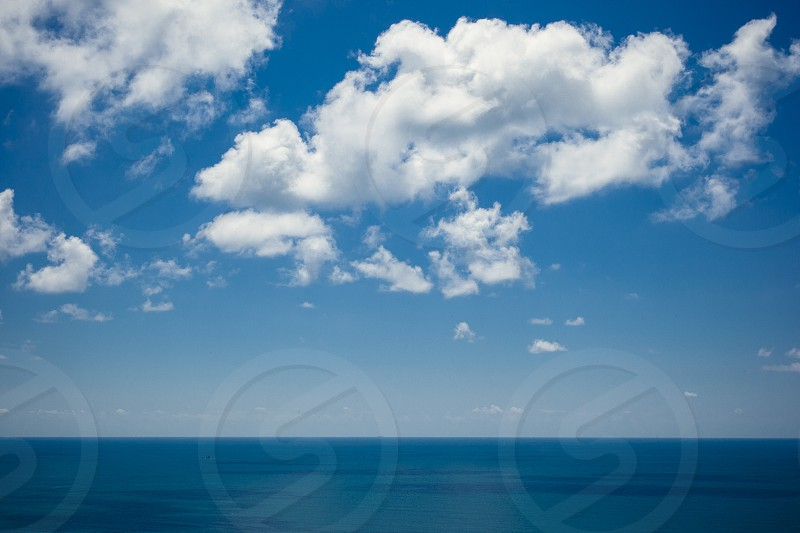Beauty sea blue sky clouds landscape wallpaper inspiration inspire clear minimal nature water photo