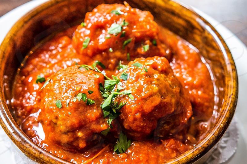Meatballs food italian cuisine meal delicious  photo