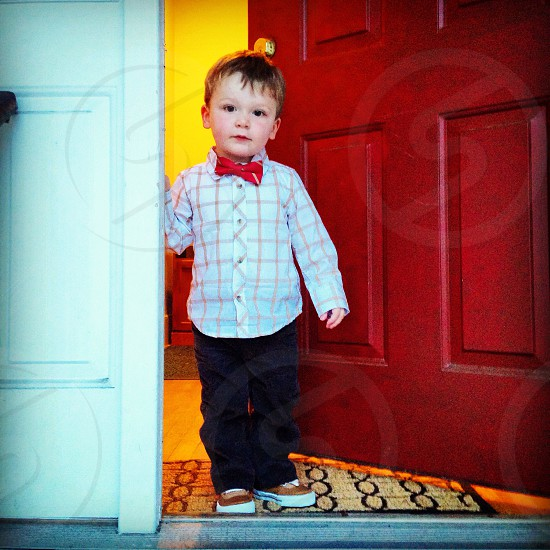 Heading to #school for #photo day! #child #bowtie photo
