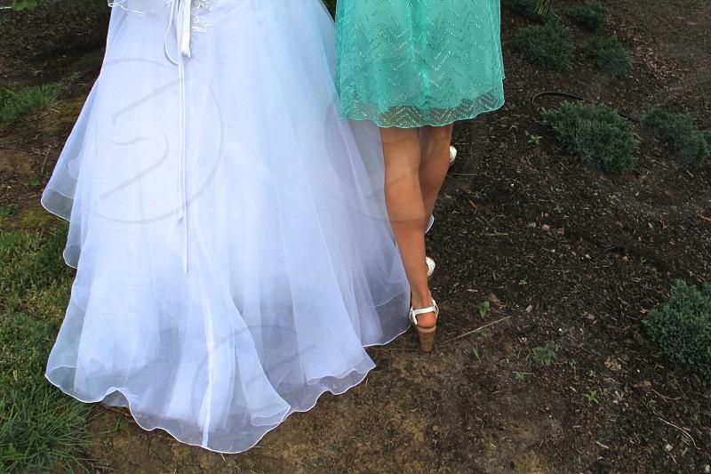 women in white long dress fashion photography photo