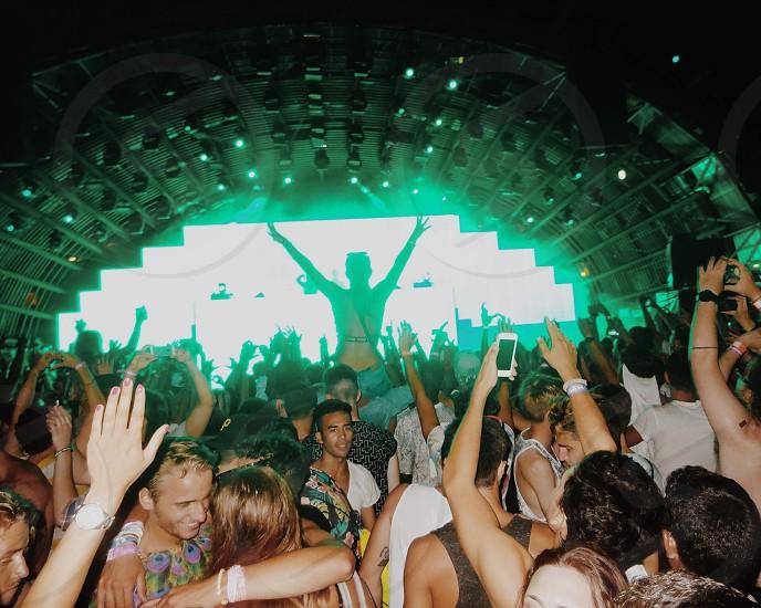 Festival. Music. Fun. Lights. People. DJ.  photo