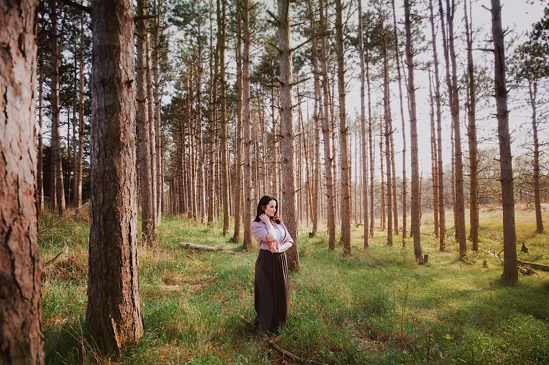Outdoor nature portrait landscape woman  photo
