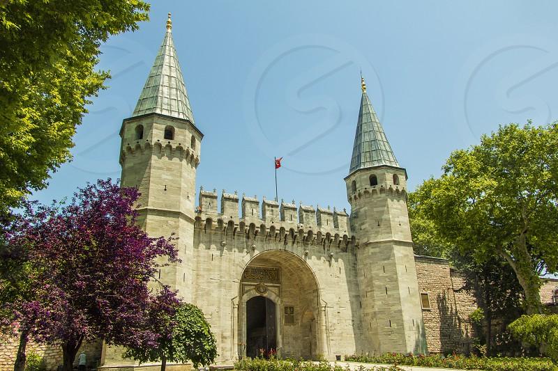 Historic Topkapi palace in Istanbul Turkey. photo