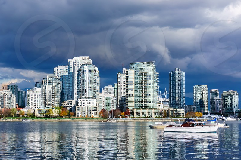 Just before the rain. Downtown Vancouver BC Canada. photo