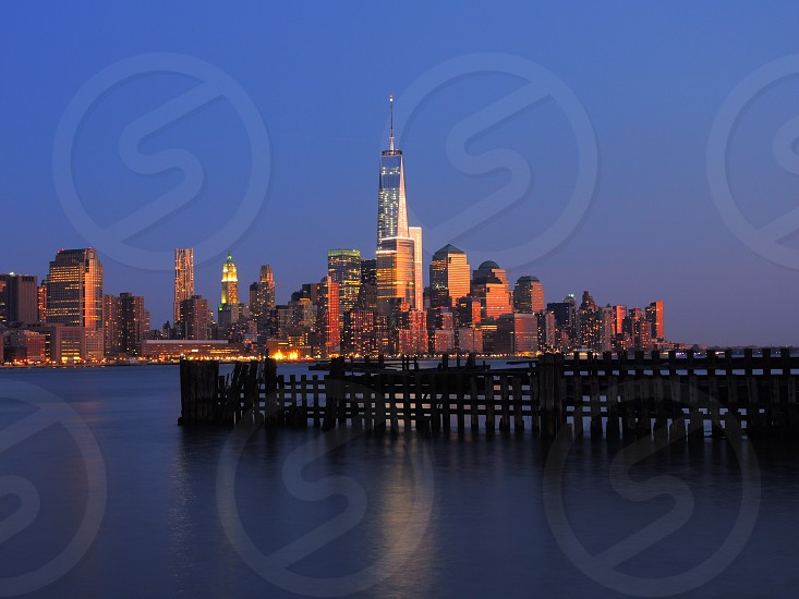freedom tower over water photo