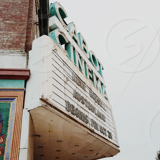 Vintage Movie Theater Sign photo