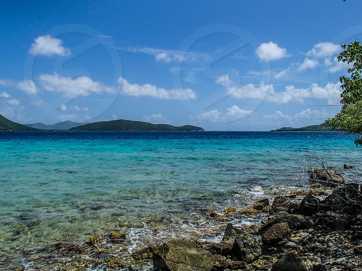 tropical ocean blue Caribbean photo