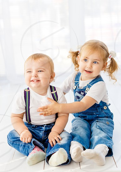 sibling rivalry kids boy girl photo