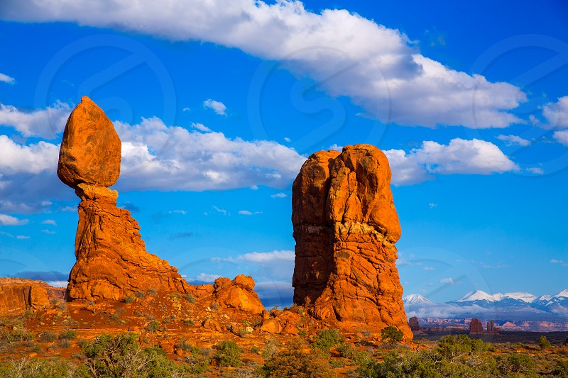 Arches National Park Balanced Rock in Moab Utah USA photo