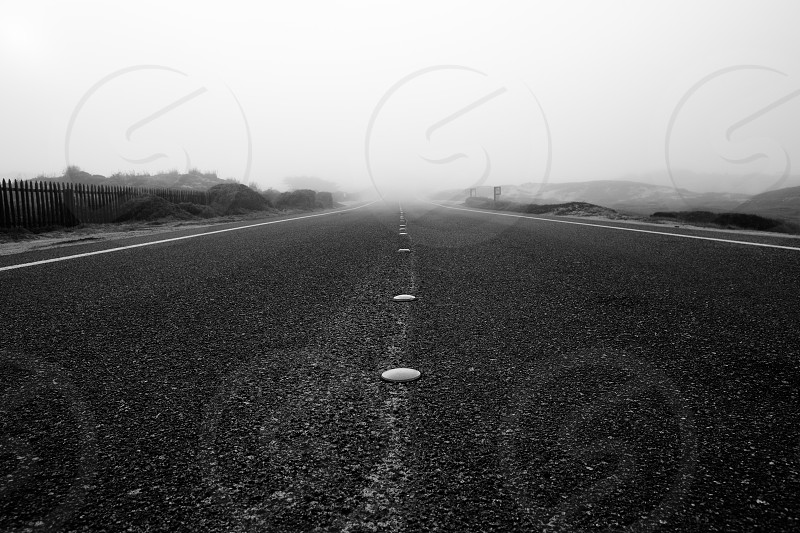 black concrete road  photo
