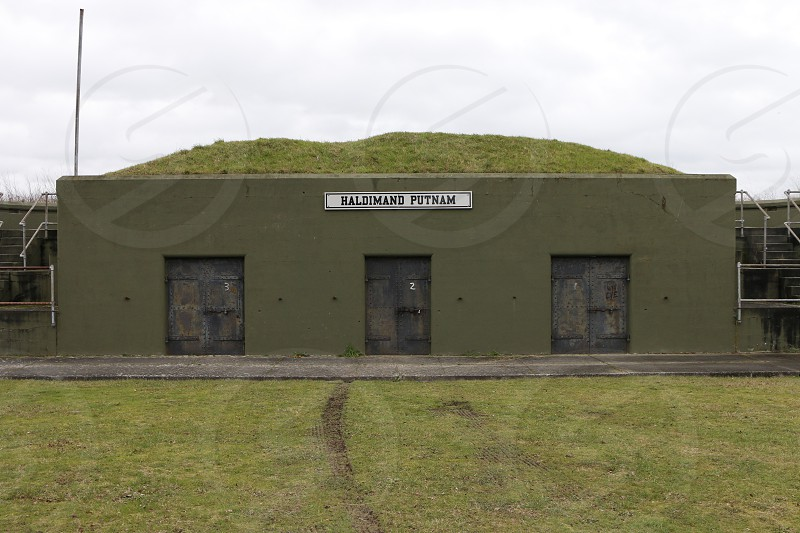 green army military bunker fort doors  photo