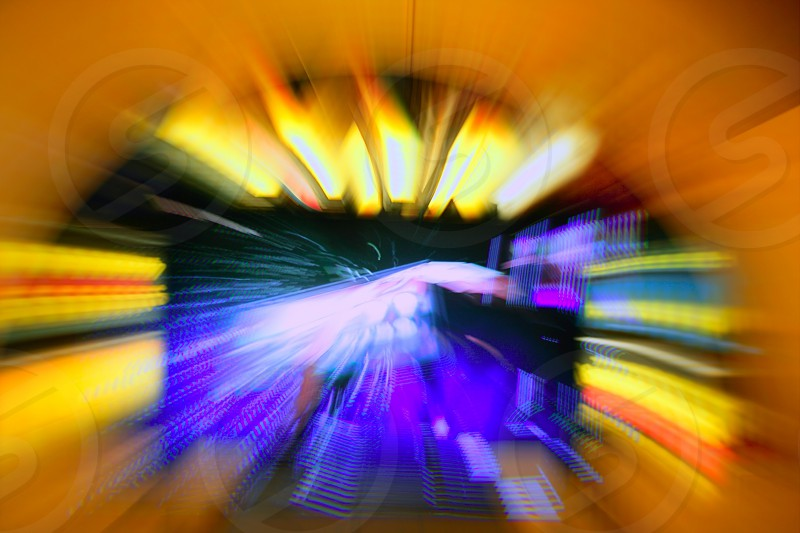 Gambling casino zoom blur colorful blurry vivid lights photo