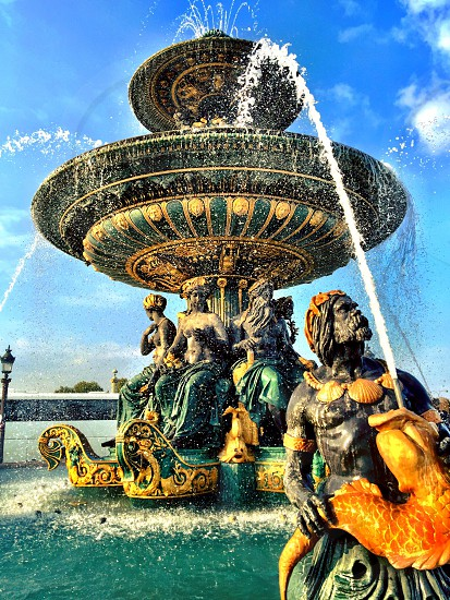 Paris France fountain River Commerce and Navigation Place de la Concorde photo