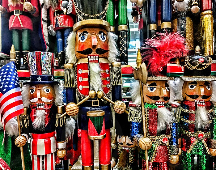 Collection of Christmas nutcrackers photo