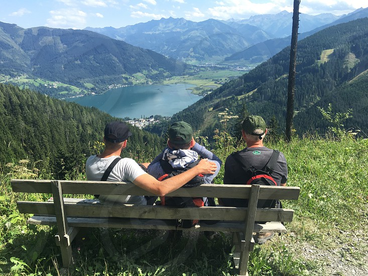 Hiking in the mountains photo