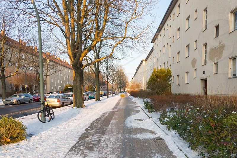 Housing and tenement block building between Müllerstrasse and Schillerpark inside Wedding neighborhood in Berlin Germany  photo