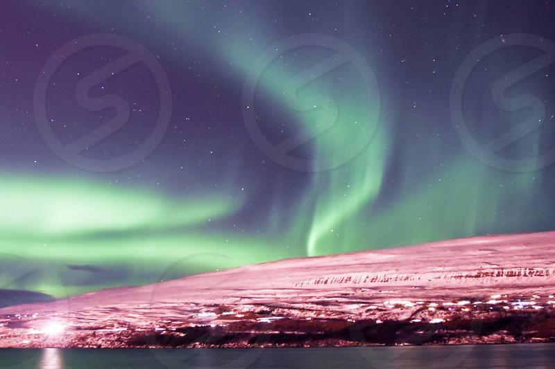 Northern lights Akureyri Iceland  photo