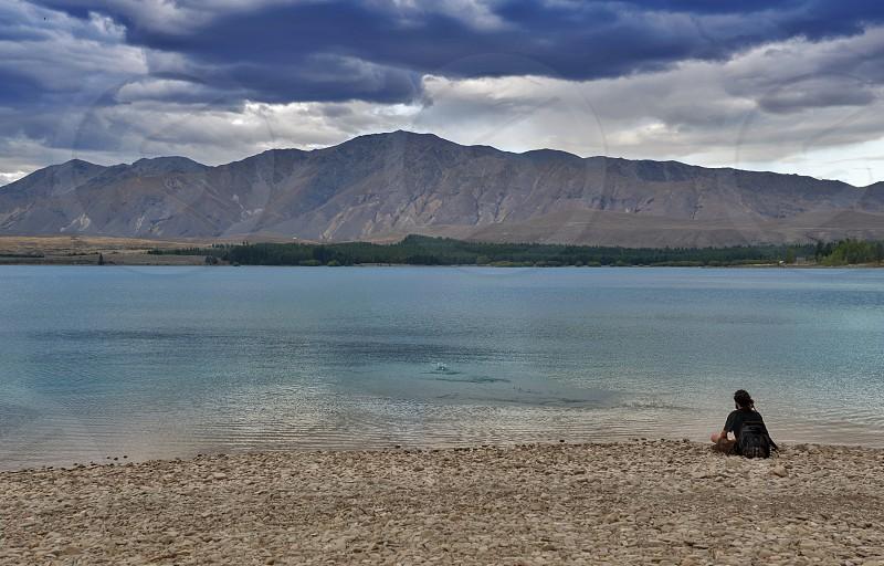 Lake Tekapo Mackenzie District South Island of New Zealand photo