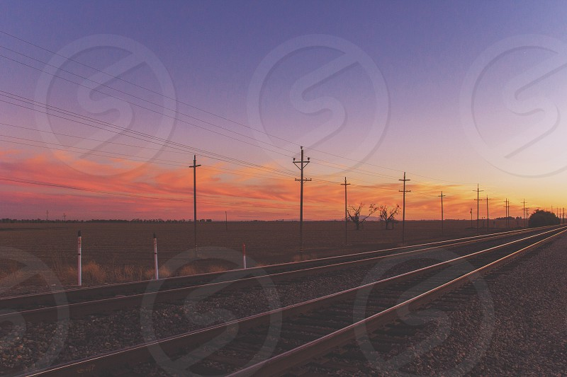 grey metal rail roads photo