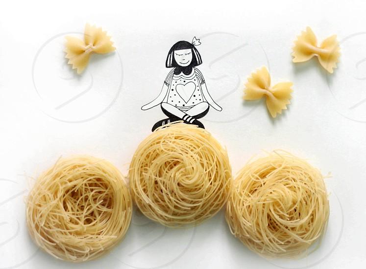 Pasta illustration photo