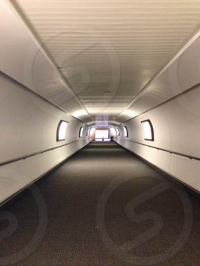 Walkway to the airport photo