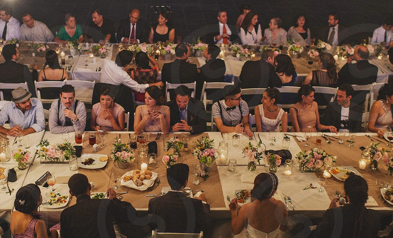 friends party in one table photo