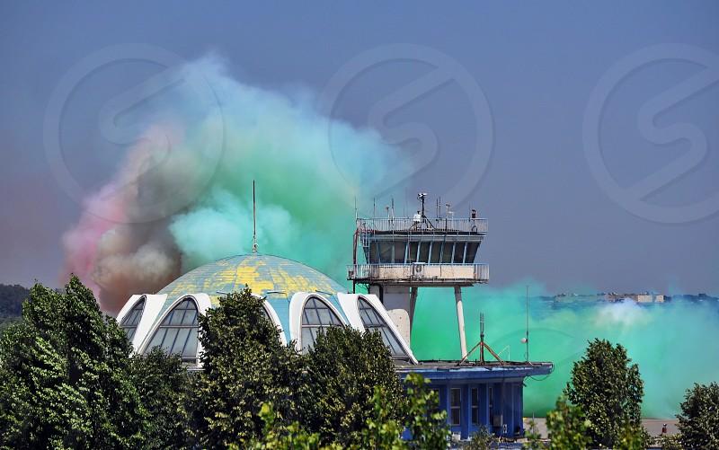 Baneasa airport during Bucharest airshow 2012 photo