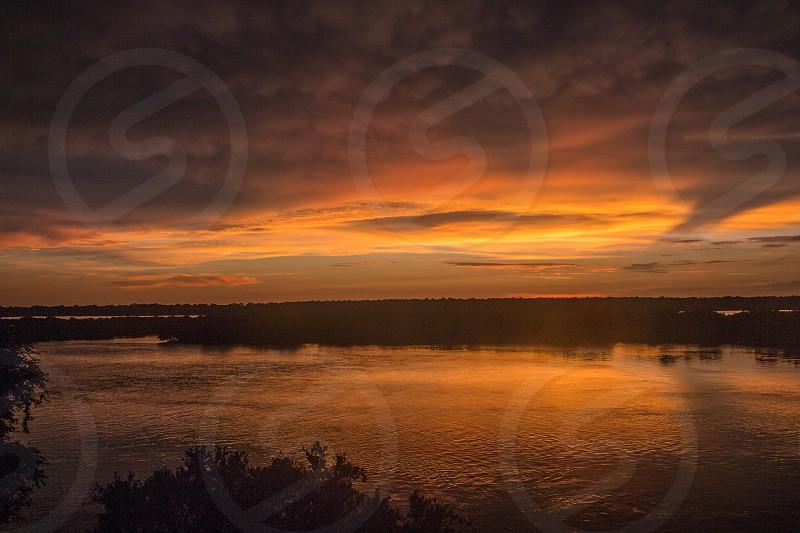 sunset spruce creek florida port orange new smyrna beach intercoastal waterway photo