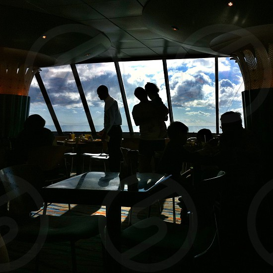 Silhouettes on a cruise to Mexico photo