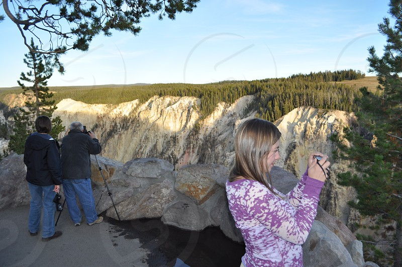 Photographers of nature Yellowstone Hanging Valley canyon photo