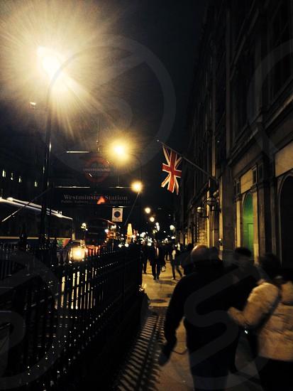 Night walk in London UK photo