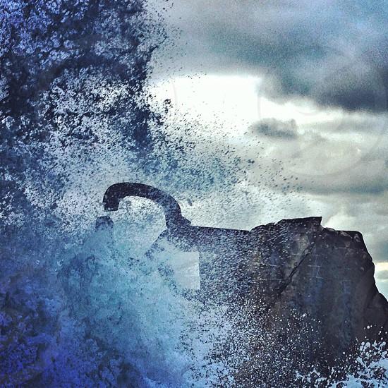 Chillida's sculpture in San Sebastián Vasque Country Spain.  photo