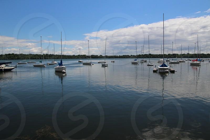 Sailboats at rest photo