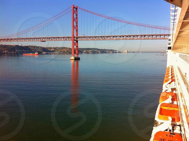 Cruise ship sea bridge travel  photo