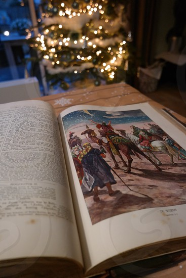 Wise man Christmas  Bible  photo