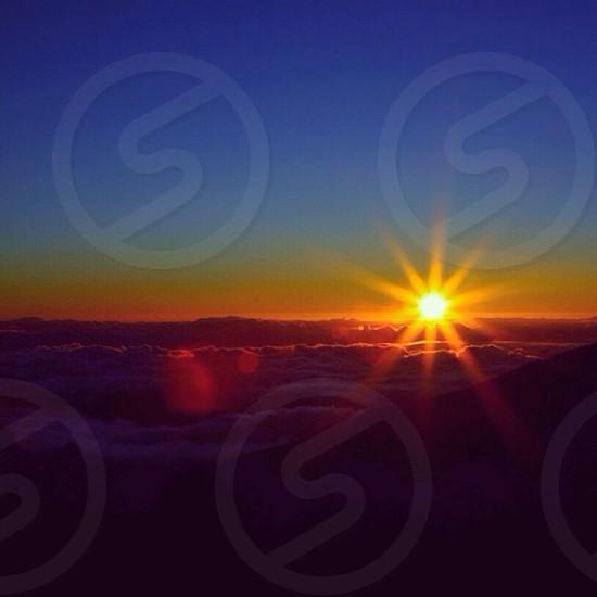 yellow sun view photo