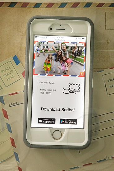 share emotions with Scriba App Postcards photo