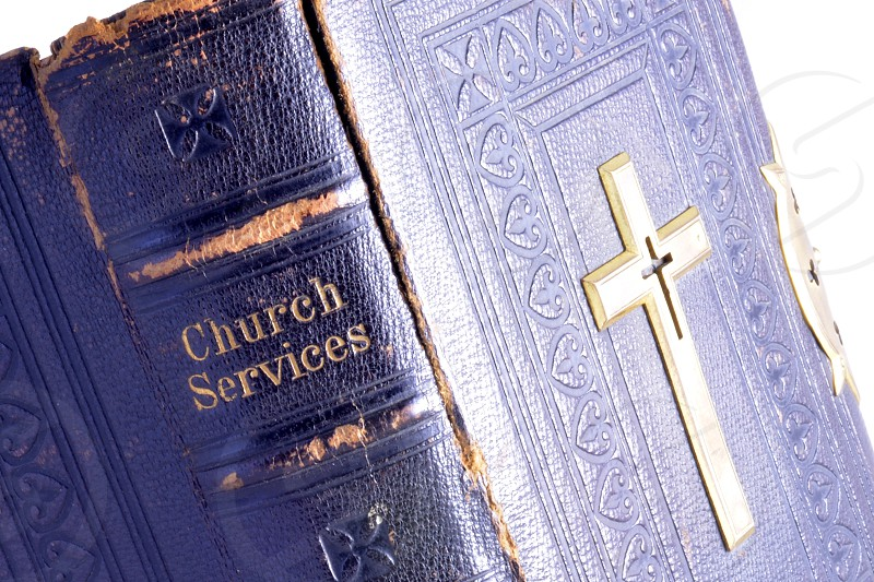 Vintage Old church Services Book Caring loving spiritual and uplifting photos photo