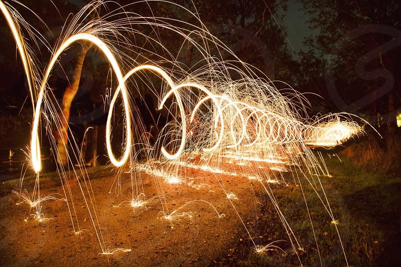 Spiraling lights. photo