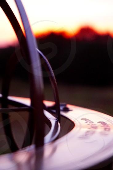 Close Up of Sundial at Sunset                           photo