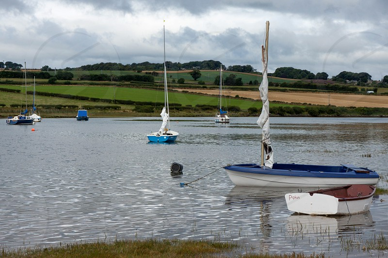 Scenic View of the River Aln at Alnmouth photo