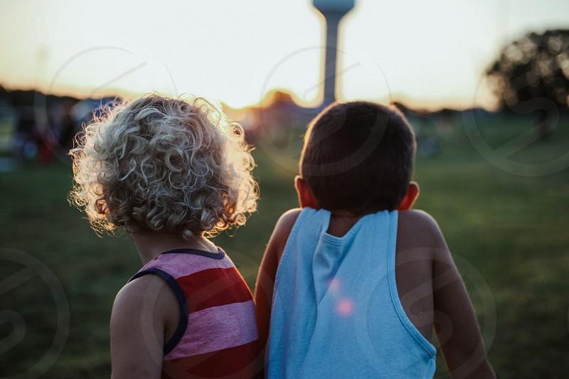Summer sun brothers photo
