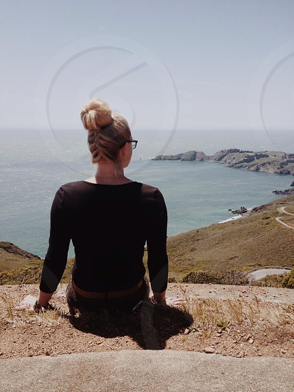 womens longsleeve black tshirt photo