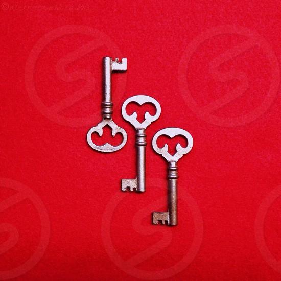 silver old styled keys photo